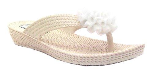 Millie  L402, Damen Dusch- & Badeschuhe Weiß weiß, Weiß - weiß - Größe: 37.5