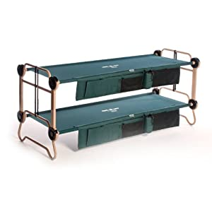 Disc-O-Bed Cam-O-Bunk Cot with2 Organizers, Large by Disc-O-Bed
