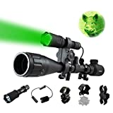 Ultimate Long Range Rechargeable Hog Hunting Light Bundle: Orion Predator H30 273 Yards Green LED Flashlight, High Clearance Scope Mount, Universal Barrel and Rail Mount, Remote Pressure Switch, 2 Sets Rechargeable Batteries, Smart Charger with A/C and Car Adapter (Color: Green)