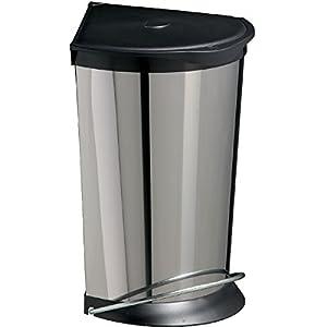 Rossignol cornelia 92720 corner waste bin 24 l stainless steel kitchen home - Corner wastebasket ...