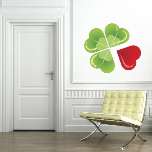Quadrifoglio - Adesivi Murali - Wall Stickers per la decorazione della casa e delle camerette