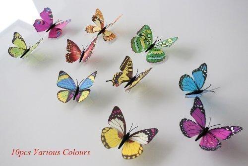 Walplus Colourful 3D Stickers Shine Butterflies Wall Mural Home art paper Decoration