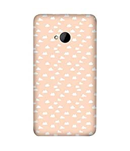 Peach Clouds Back Cover Case for HTC One M7