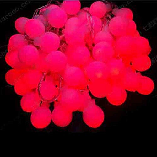 Generic 5M Red 50 Led Curtain Lights Globe String Fairy Lights For Window Outdoor Garden Christmas Wedding