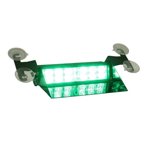 Lamphus Solarblast 12W Led Emergency Vehicle Windshield Dash Strobe Warning Light ( Other Color Available ) - Green
