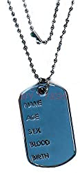 Adult Military Fancy Club Party Accessory Soldiers Jewellery Dog Tag Necklace Uk by Bristol Novelty