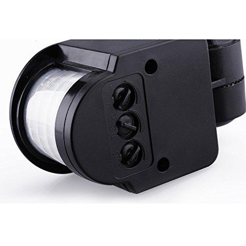 SUNNY-MARKET 12M LED Infrarot-PIR Bewegungs-Sensor-Detektor-AC90V ~ 240V 180 Grad justierbarer Uhrwerk Automatik Sicherheits-IP44 f?r Wandleuchten