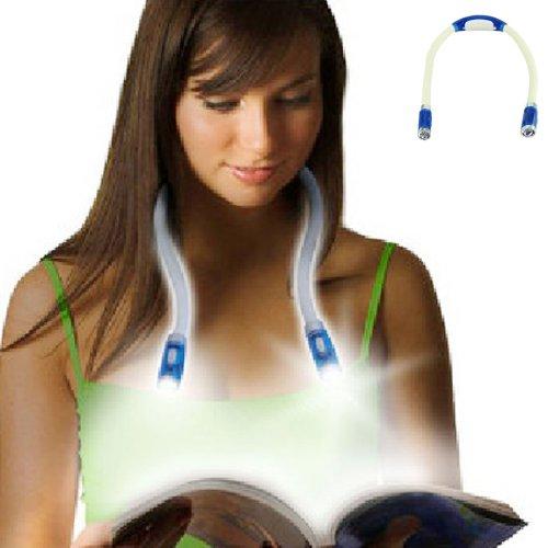 Voberry Led Flexible Neck Reading Book Light Huglight Book Neck Hug Night Light Lamp For Study Reading