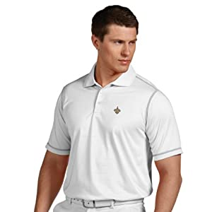 NFL New Orleans Saints Mens Icon Desert Dry Polo by Antigua