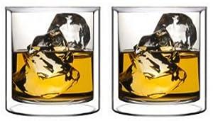 Sun's Tea (TM) 5.5oz Double Wall Liquor Vodka Shot Glass, Espresso Glass, set of 2