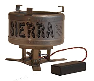 Sierra Stove - wood burning lightweight Titanium backpacking camp stove by Sierra Stove