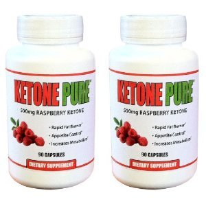 Image of Raspberry Ketone 500mg. 90 Count Bottle. Pure Raspberry