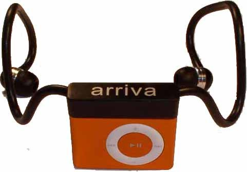 Arriva iPod Shuffle (2nd Generation) headphones with in-ear earbud, regular black