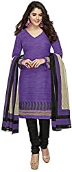 SP Marketplex Women's Cotton Unstitched Dress Materials (Spmsg318, Purple And Blue)