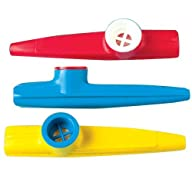 Lot Of 12 Assorted Color Plastic Kazoos