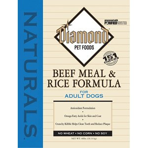 Diamond Naturals Dry Food for Adult Dog, Beef and Rice Formula, 40 Pound Bag by Diamond Pet Foods