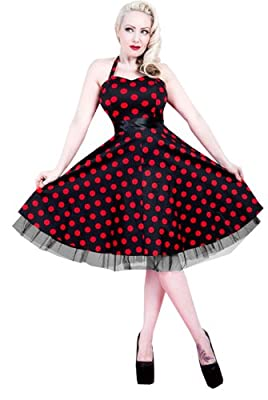 H&R London Leah Red Polka Dot
