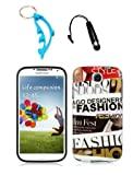 img - for 3 Items Combo For Samsung Galaxy S4 i9500 Fashion Design TPU IMD Hard Case Snap On Protector Cover + Free Mini Stylus Pen + Free Alloy Beer Bottle Opener Dolphin Keychain book / textbook / text book