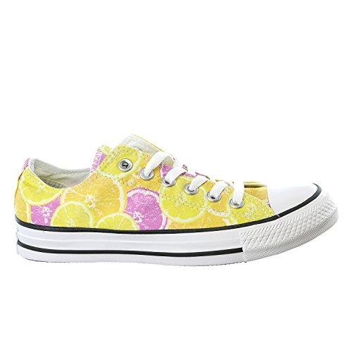 Converse Womens Chuck Taylor All Star Ox Fashion Sneaker Shoe, Yellow/Orange/Pink, 4.5