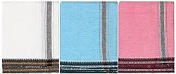 PLATINUM Men's Cotton Lungis - Pack of 3 (Multi-coloured)