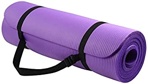 BalanceFrom GoYoga All-Purpose 1/2-Inch Extra Thick High Density Anti-Tear Exercise Yoga Mat with Carrying Strap (Purple).
