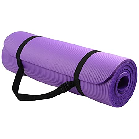 Overview: With double sided non-slip surfaces, BalanceFrom All-Purpose Premium exercise yoga mat comes with an excellent slip resistant advantage to prevent injuries. Exceptional resilience allow you to keep your balance during any exercise style. mo...
