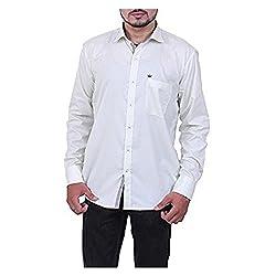 Austrich Men's Casual Shirt (11003_White_38/39)