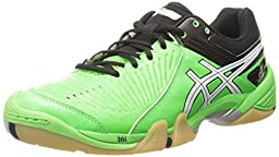 Asics Men\'s Gel-Domain 3 Volleyball Shoe,Neon Green/White/Black,9 M US