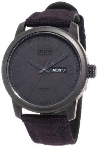 Citizen Men's BM8475-00F  Black Canvas Strap Eco Drive Watch
