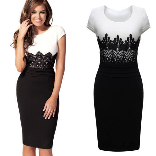 WOMENS CELEBRITY JESSICA WRIGHT LACE PANEL MIDI BODYCON DRESS SIZE 8-16