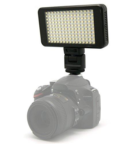 【ロワジャパン】【SMD チップ 最高級 150球】【光量 角度 調節可】 ROWA ロワ 150球搭載 残量表示 USB充電式 バッテリー内蔵 コンパクトな 一眼レフ ビデオ カメラ LED ライト 照明 調光【軽量化 汎用タイプ】