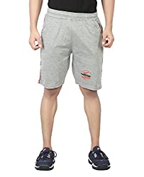 Maniac Solid Men's Grey Basic Shorts