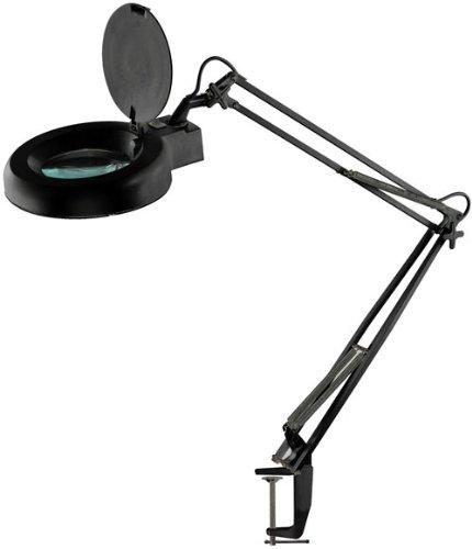 SE MC329B-F2X Illuminated Magnifier Table Lamp with Table Clamp, Black (Illuminated Magnifier Table Lamp compare prices)