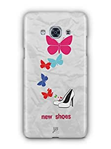 YuBingo New Shoes & Butterflies Mobile Case Back Cover for Samsung J3 Pro