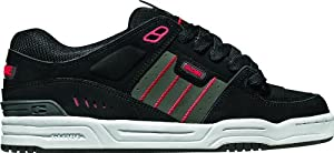 Globe Men's Fusion Skate Shoe,Black/Charcoal/Red,6 M US