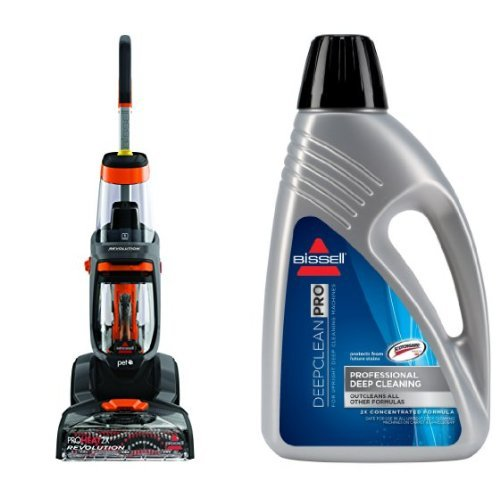 Bissell 1548 ProHeat 2X Revolution Pet Full-Size Carpet Cleaner and Bissell 78H6B Deep Clean Pro 2X Deep Cleaning Concentrated Formula, 48 ounces Bundle (Carpet Washer Bissell compare prices)