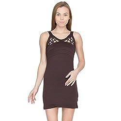 Species Women's A-line Dress (S-4304_Coffee_X-Small)