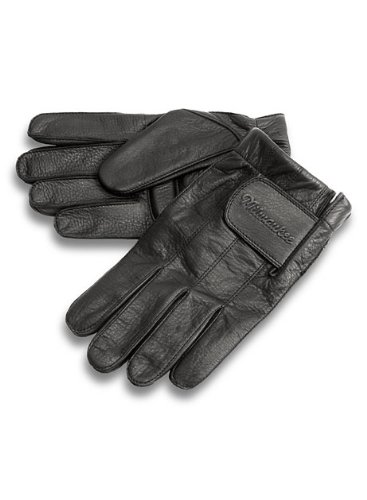Milwaukee Motorcycle Clothing Company MMCC Riding Gloves with Gel Palm (Black, Large)