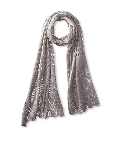 A&R Cashmere Women's Breezy Knit Wrap, Grey