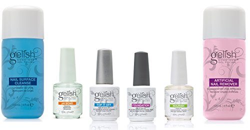 Gelish Full Size Gel Nail Polish Basix Kit (15ml) with Remover & Cleanser (Gelish Ph Bond Dehydrator compare prices)