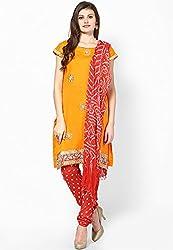 Soundarya Womens Cotton Salwar Suit Dress Material (Bs10 _Black _Free Size)
