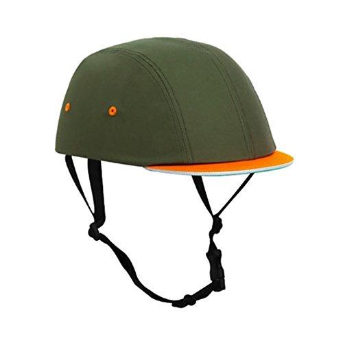 Skateboard Bicycle Bike Cycling Skiing Outdoor Sports Protective Equipment headgear Abs Cork Inner Shell Helmet Khaki Orange