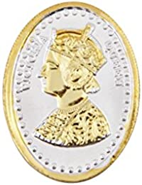 Jewel99 24 Kt Gold Plating Sterling Silver Queen Victoria Silver Sovereign Gold Coin