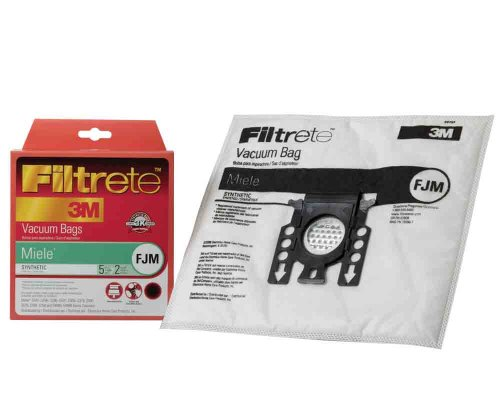 Miele Fjm Synthetic Vacuum Bags And Filters By Filtrete, 5 Bags And 2 Filters front-2750