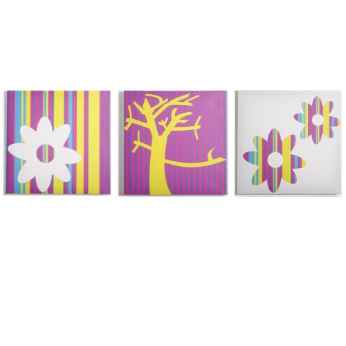 Modern Littles Color Pop Canvas Print Wall Decor, Nature, 3 Count