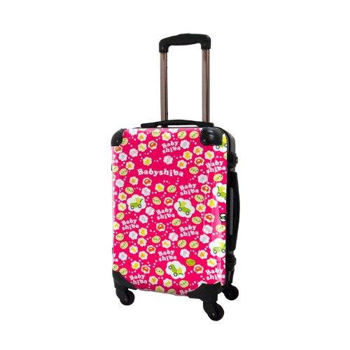 ベビしばスーツケース/アートスーツケース/フレーム4輪/TSAロック/機内持込可能/キャラート/豆しば BabyShiba ピンク/CRA01-J00304