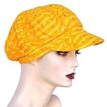 Elton Dazzle Glitter Newsboy Hat Yellow