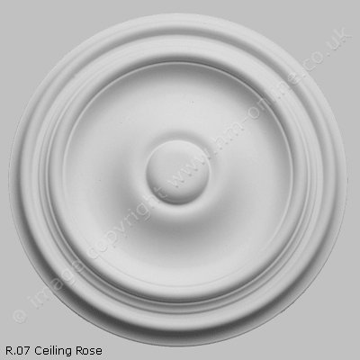 Pack of 2x R07 Ceiling Roses. This simple 10 inch diameter ceiling rose will compliment our R08, R09, and R40 designs, and will be particularly appreciated by those seeking clean modern lines.