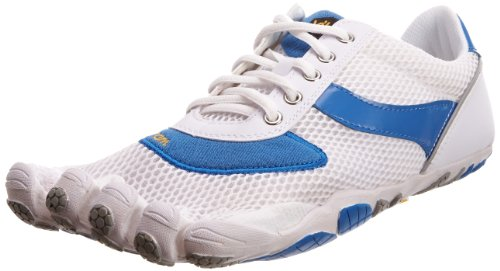 Vibram© FiveFingers Men's Speed White/Blue Trainer 5F/M3648Wb-44 10 UK, 44 EU
