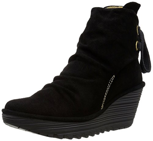Fly London Yama - Stivaletti Donna, Nero (Black 006), 35 EU